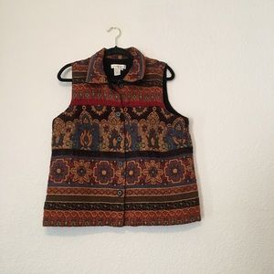 Coldwater Creek Embroidered Vest